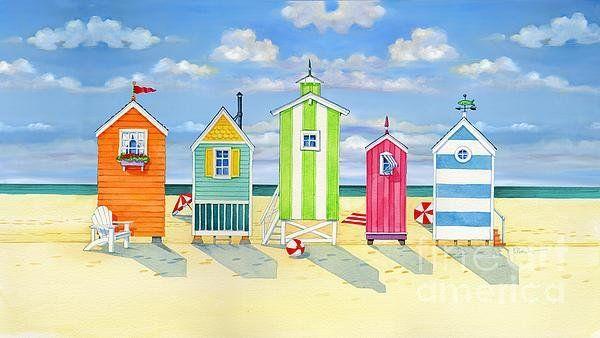 Brighton Beach Huts Art Print By Paul