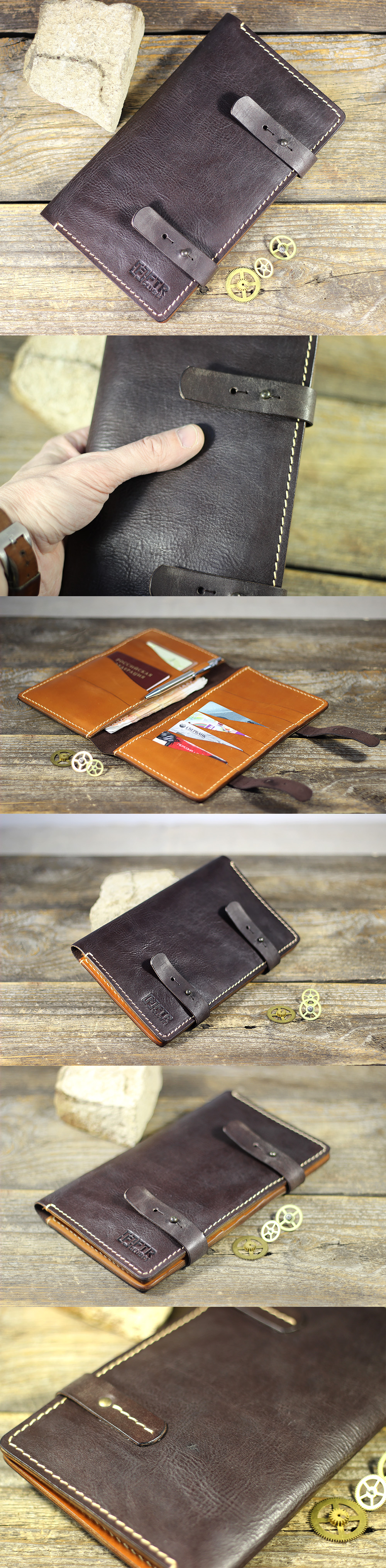 Travel wallet. Handmade. Facture. [FTR club#1] Single quantity. Exact repetition is impossible.
