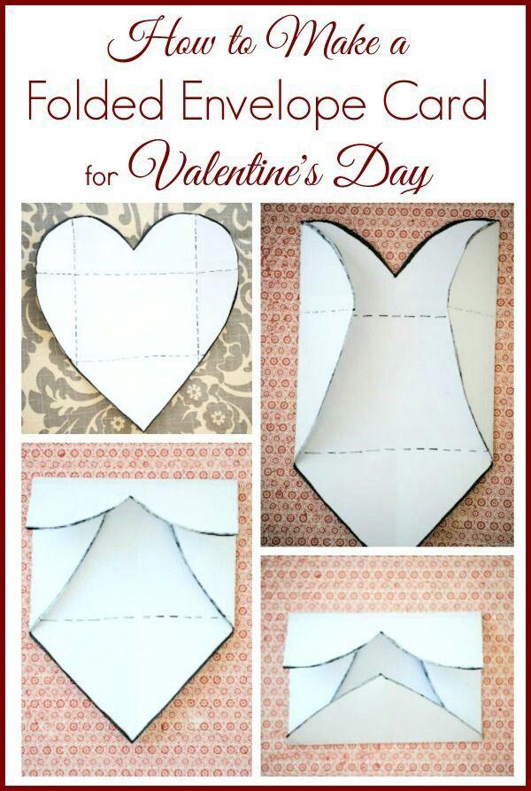 Как сделать конвертик открытку сердечком, днем
