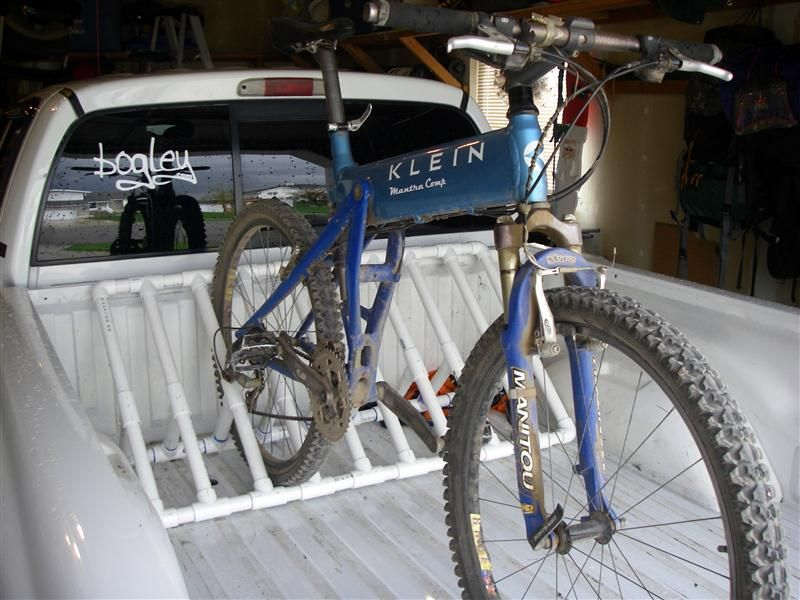 Diy bike rack for yard to prevent them from laying in wet