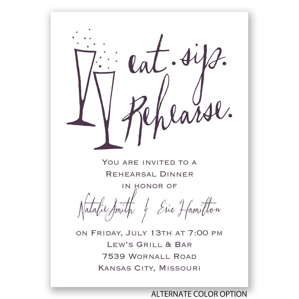 Rehearsal Dinner Invitations Wording  Invitations Card Template