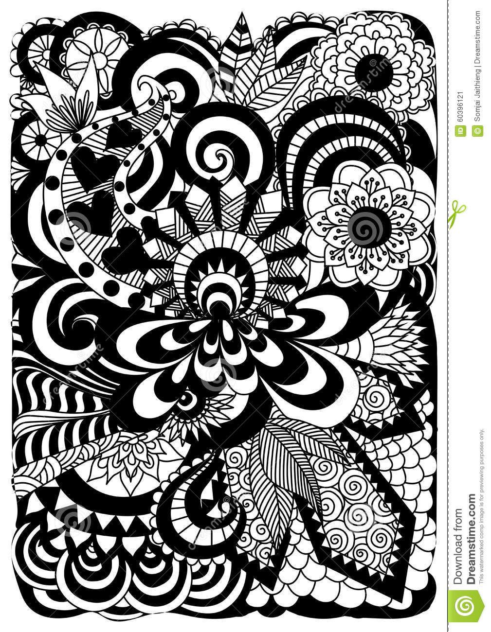 detailed abstract zentangle flowers background download from over 43 million high quality stock photos