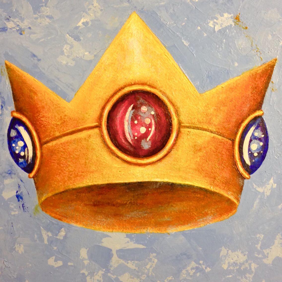 Princess Peach S Crown Nintendo Acrylic Painting Crown
