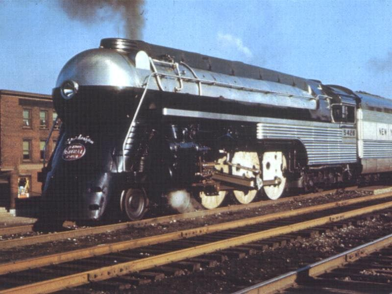 New York Central Hudson used for name train Mercury ... Henry Dreyfuss Train