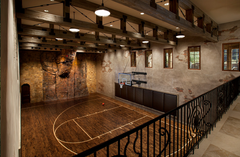 Indoor Basketball Court With Rock Climbing Wall Indoor Basketball Court Indoor Basketball Indoor Play Areas
