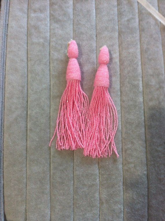 Long tassel earrings beaded  - tassel earring bead  Earrings in the style of…
