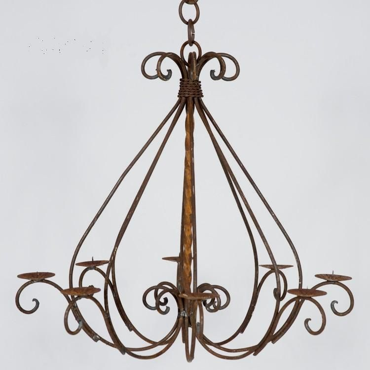 Any Feature; Wrought Iron (51) Wrought Iron Votive Candle Chandelier U2013 18u0027