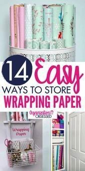 wrapping paper organization and storage ideas are the perfect way to store wrapping paper all year round Here you will find gift wrap storage ideas to easily hide gift wr...