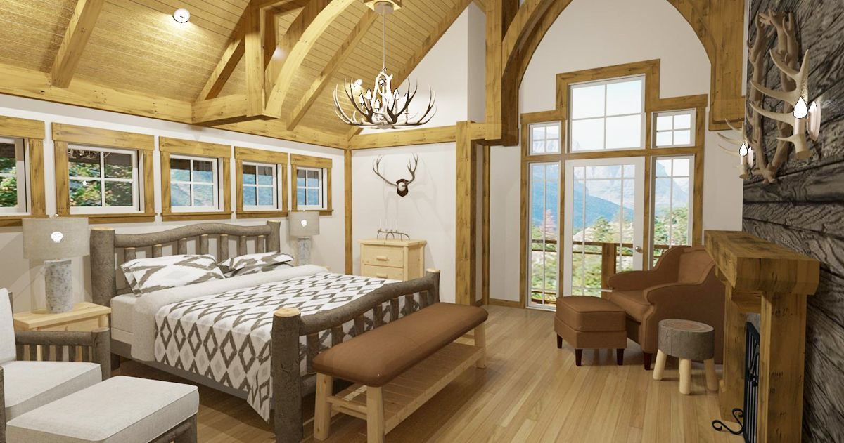 rustic bedroom designed in chief architect software - Chief Architect Interior Design