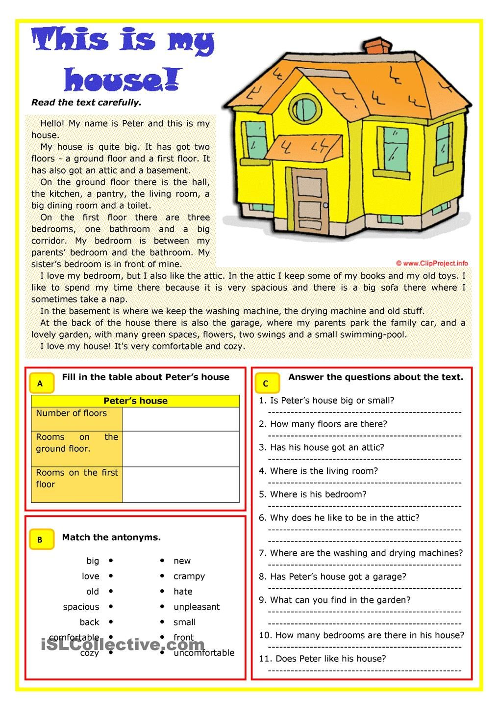 best images about house vocabulary worksheets 17 best images about house vocabulary worksheets furniture and student centered resources