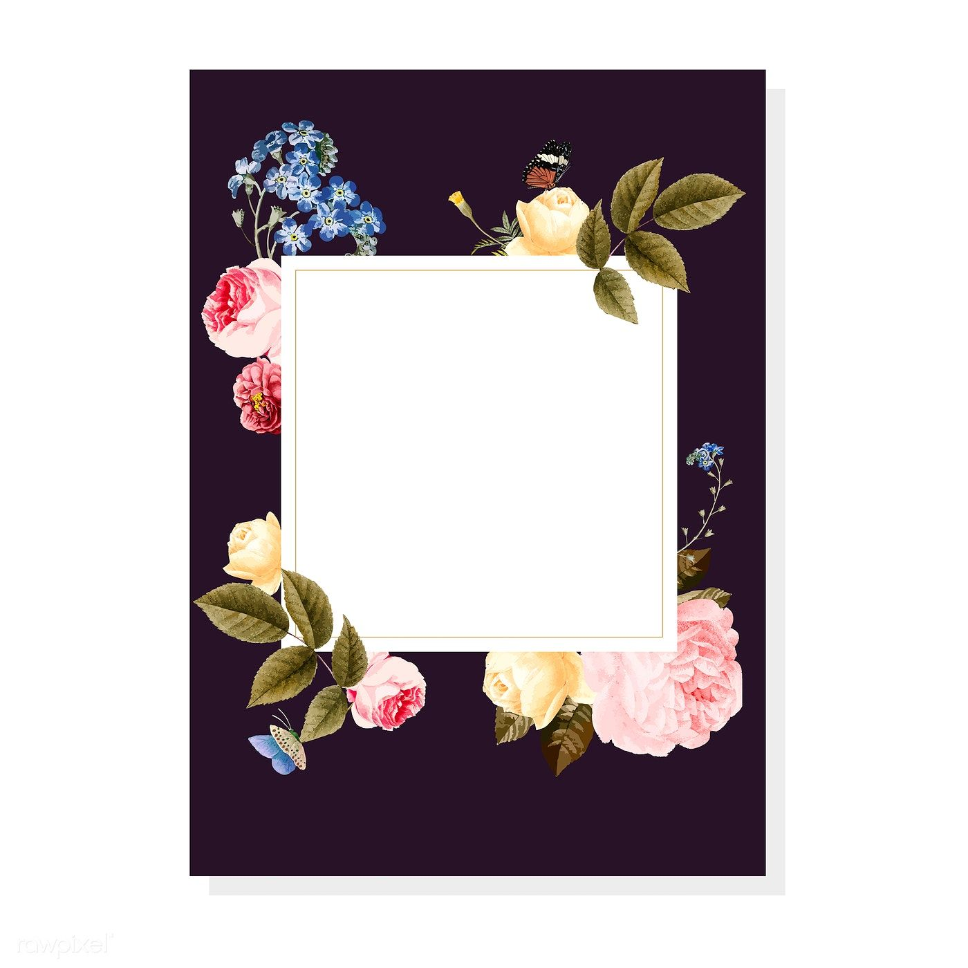 Download premium vector of Blank floral