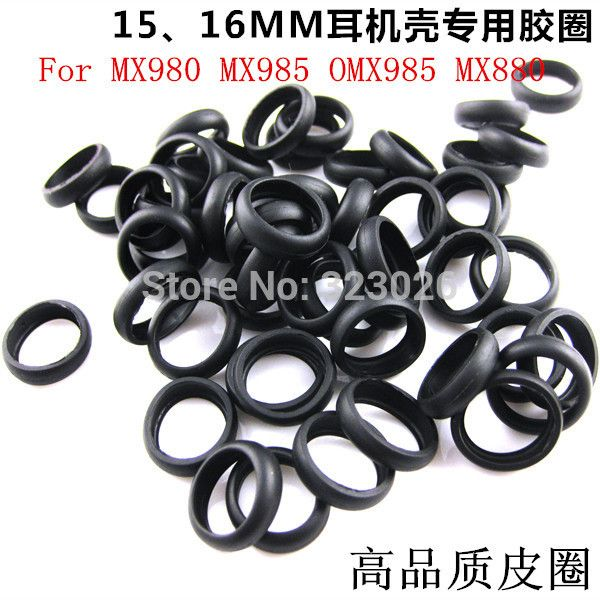Click to Buy << Rubber ring of headphones 15mm 16mm for MX980 MX985 ...