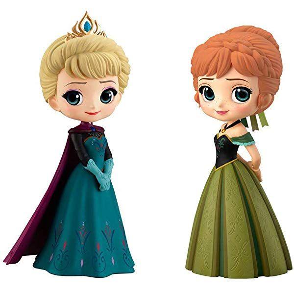 Q posket Disney Characters Elsa /& Anna Normal Color Ver.
