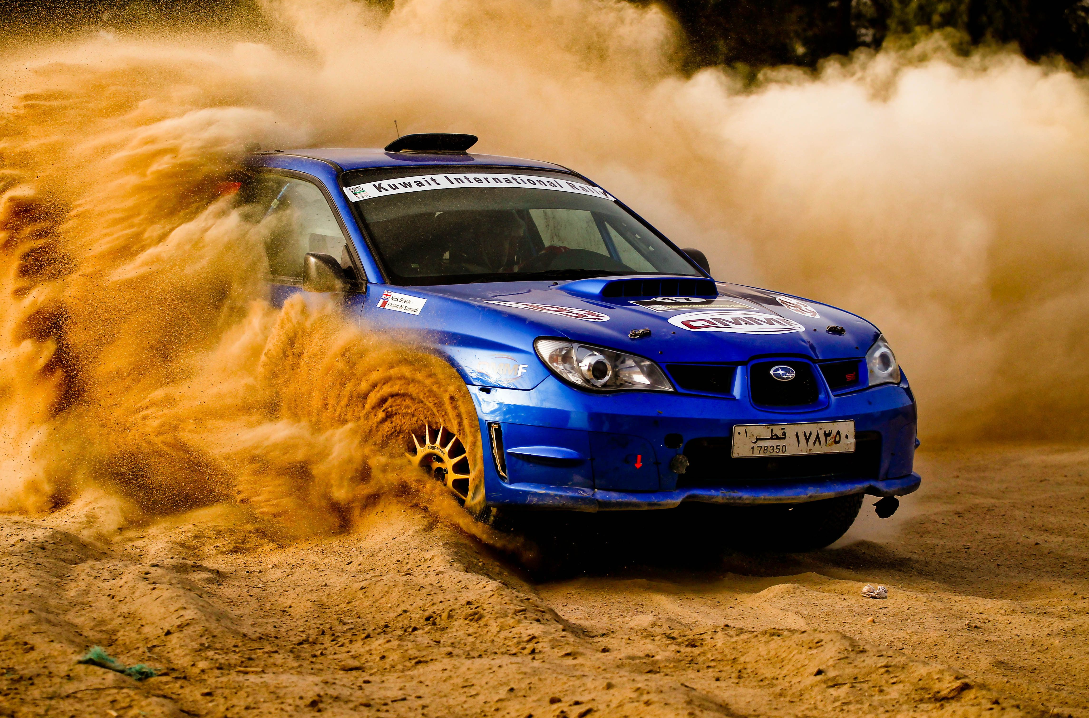 Subaru wrx sti rally love how you can see the dirt spinning off the wheels