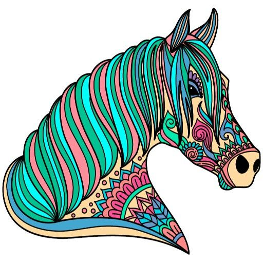 From Paint By Numbers Google app ( App with colorful zebra ...