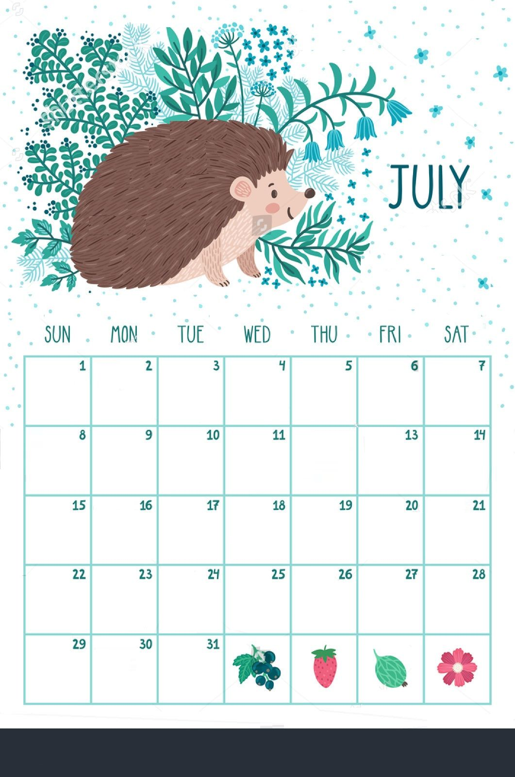 Best July Month 2018 Calendar Designs Calendar Design Planner