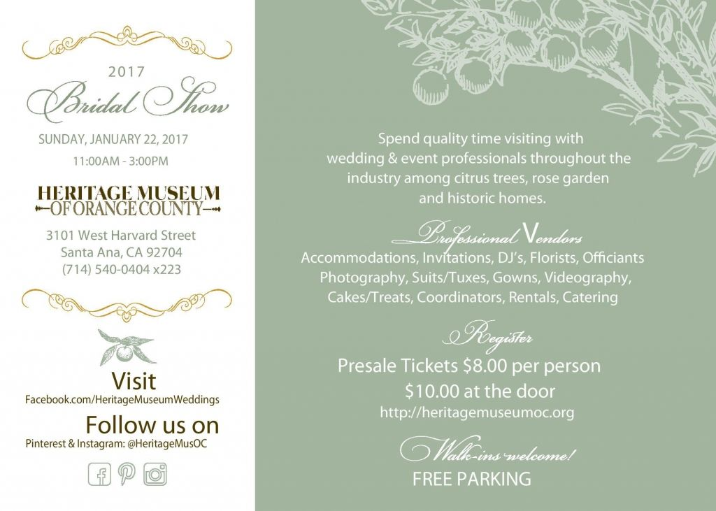 Heritage Museum of Orange County - Bridal Show