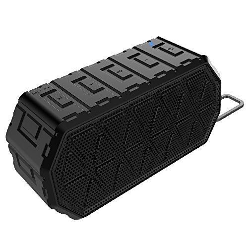 Honeygrand Waterproof Ipx6 Portable Wireless Bluetooth Speakers V42 Outdoor Ride Climbing Stereo Black Click