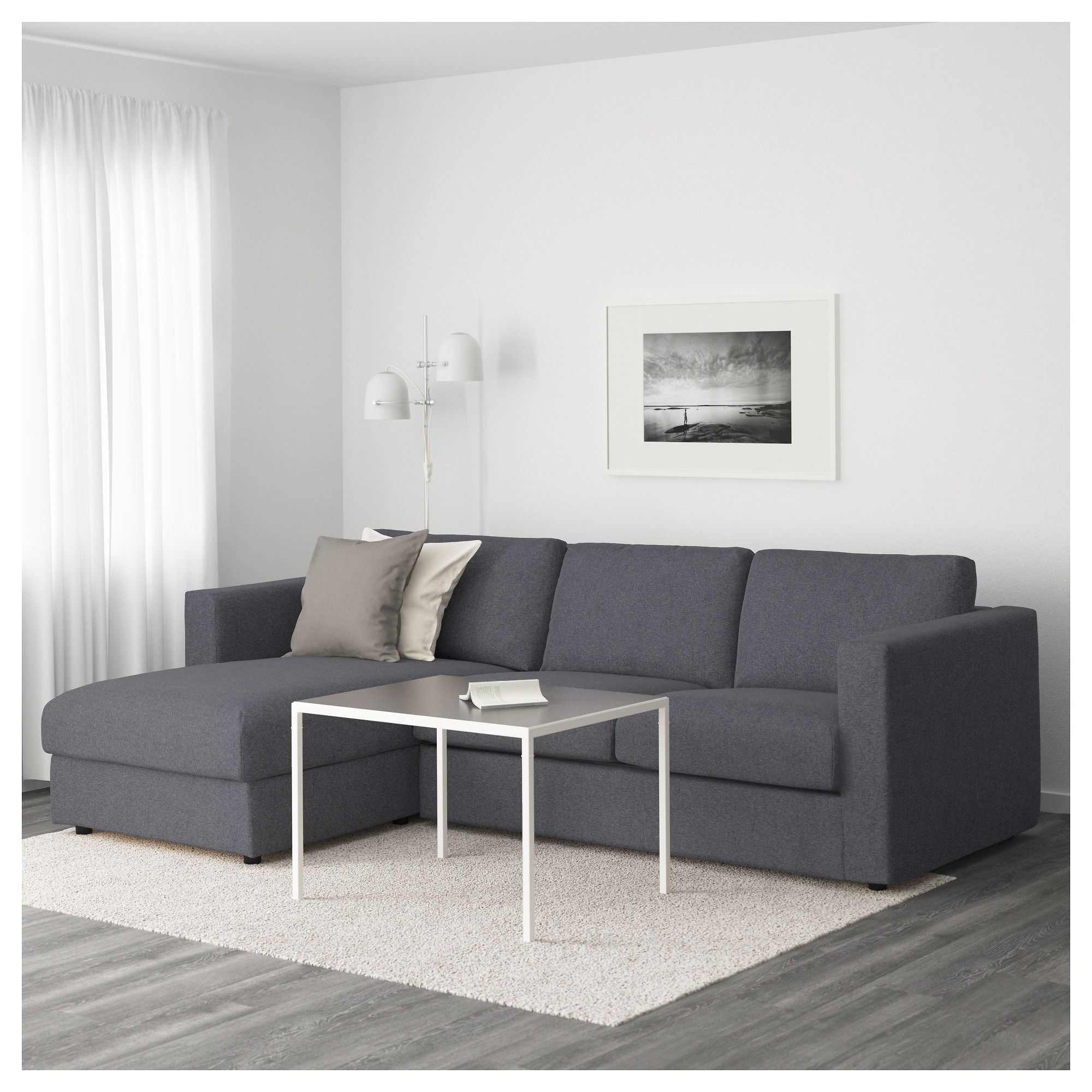 Sofa Ikea Chaise Ikea Vimle Sofa With Chaise Gunnared Medium Gray интерьер