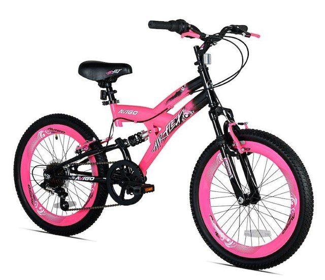 Girls 20 Inch Avigo Air Flex Dual Suspension Bike Suspension