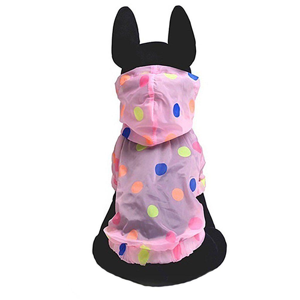 AAA226Niedlicher Regenmantel für Hunde, weiche ...