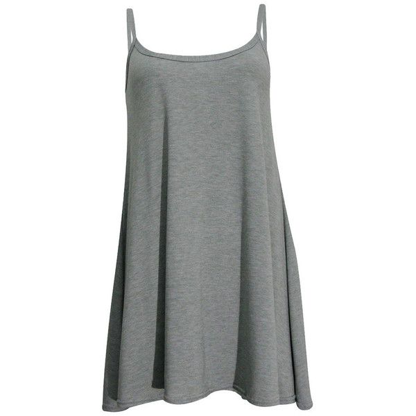 Pamela Swing Dress ($61) ❤ liked on Polyvore featuring dresses, short dresses, spaghetti strap dress, cami dress, swing dress and tent dress
