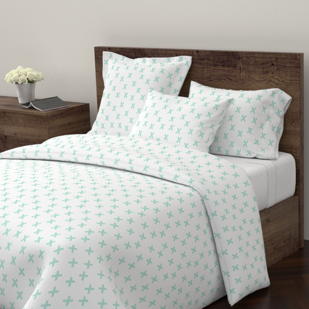 Aqua X S On White On Wyandotte By Googoodoll Roostery Home Decor