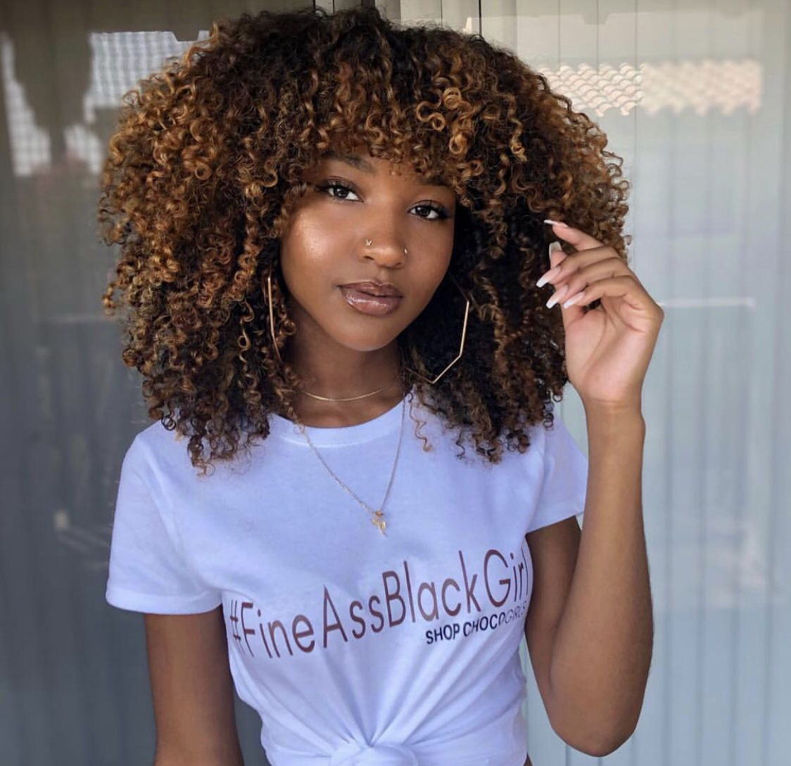 Beautiful Big Afro Hairstyle Gorgeous Girl And Hair Colour