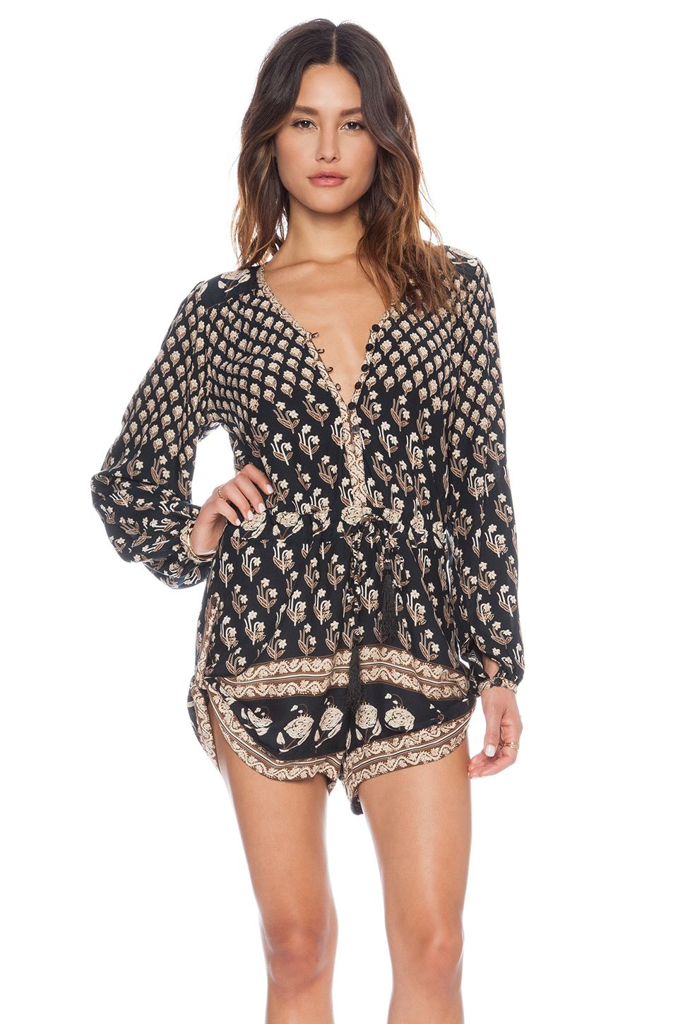 5c0d3e4fe9 Spell & The Gypsy Collective Bohemian Royale Playsuit in Charcoal ...