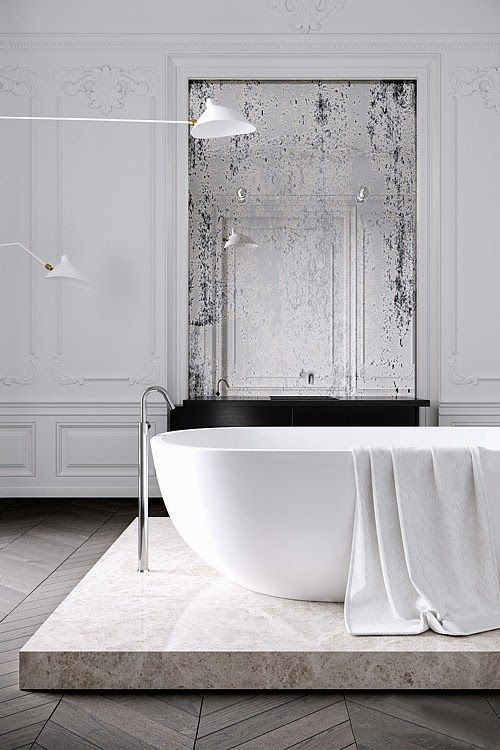 Paris Style Bathroom Decor: 30 Stunning Bathrooms (All New) For Superbowl Sunday! In