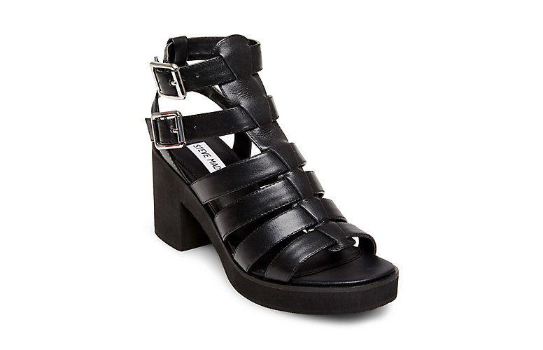 cc29771418a CLUE: STEVE MADDEN   Gladiator Sandals   Leather gladiator sandals ...