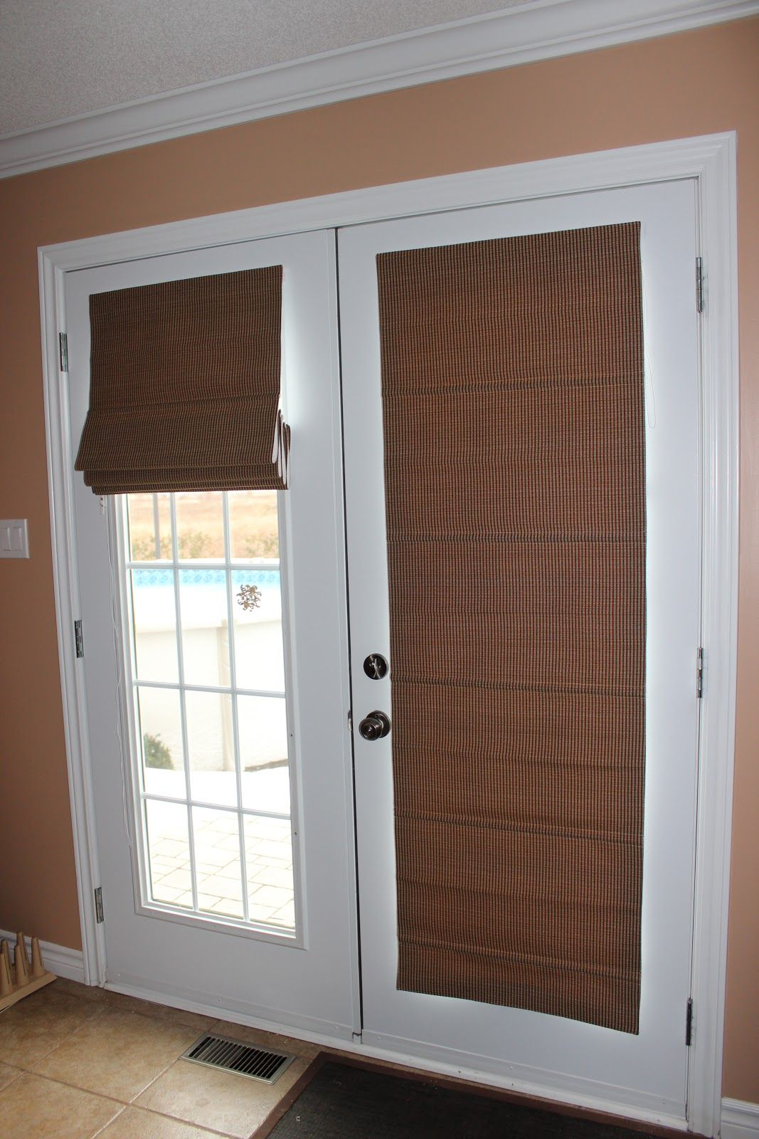 french doors roman shades - Google Search