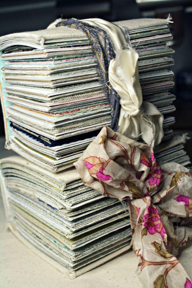 Handmade Art Journals: Junquemail Contessa - Upcycled Materials (Bookbinding)