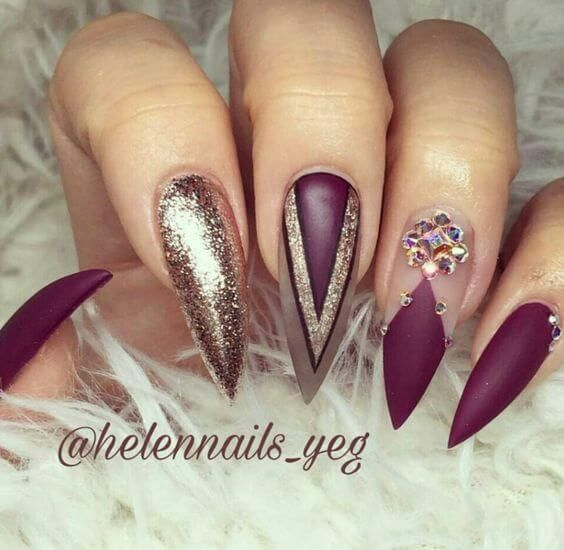 stiletto nail 5 - 15 Stiletto Nail Designs To Try Out Now Stiletto Nail Designs