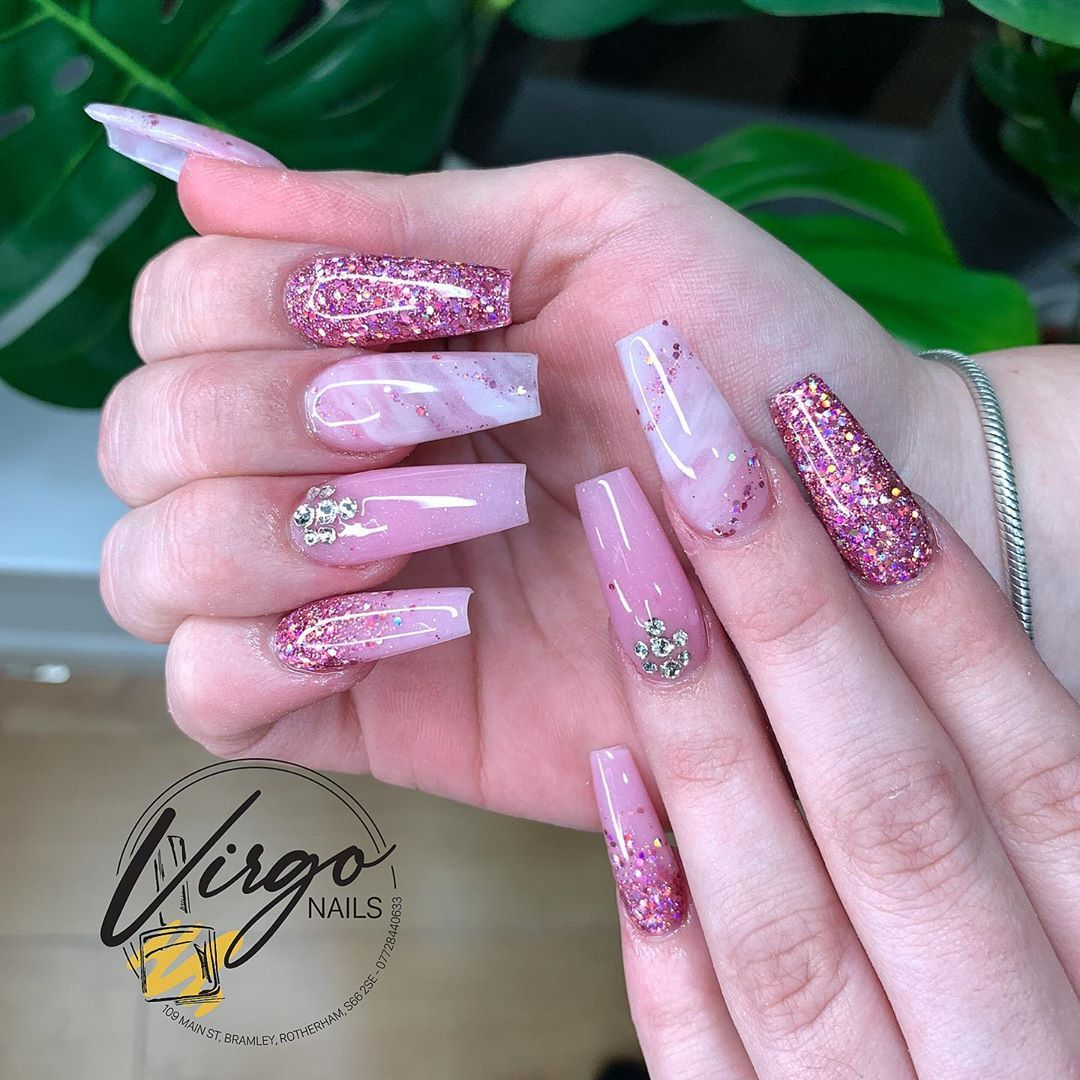 Last Set Of The Week For Virgo Nails 109 Main St Bramley Rotherham S66 2se Coffin Nails Designs Nail Designs Nails