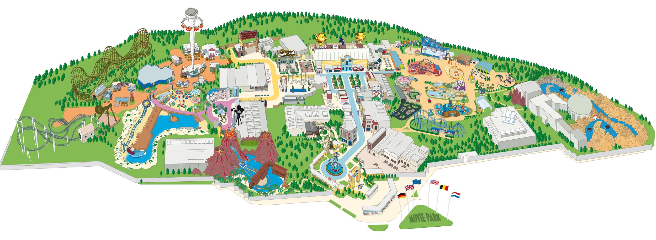 The park was opened in june 1996 as warner bros movie world the park was opened in june 1996 as warner bros movie world germany gumiabroncs Choice Image