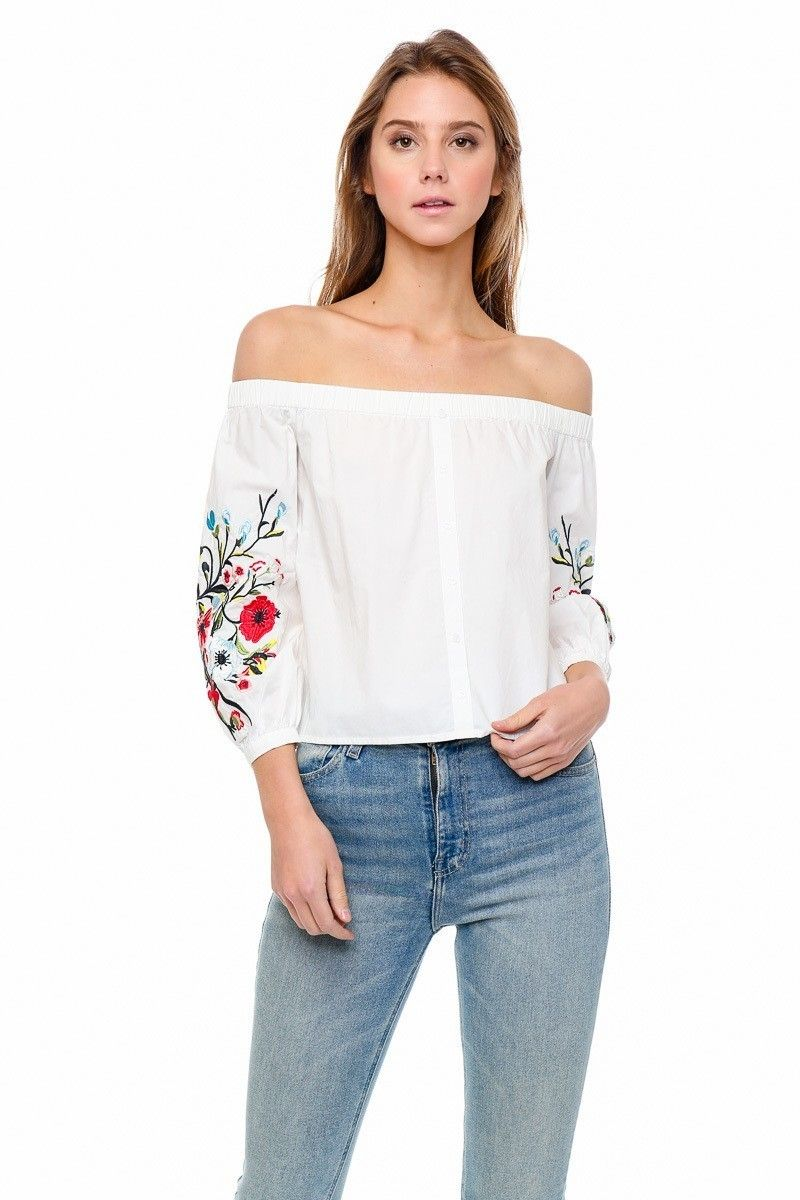 Lumiere Young Contemporary Long Sleeve Off The Shoulder Top With