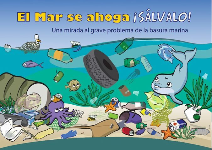 Salvemos El Mar Pollution Recycled Projects Comic Book Cover
