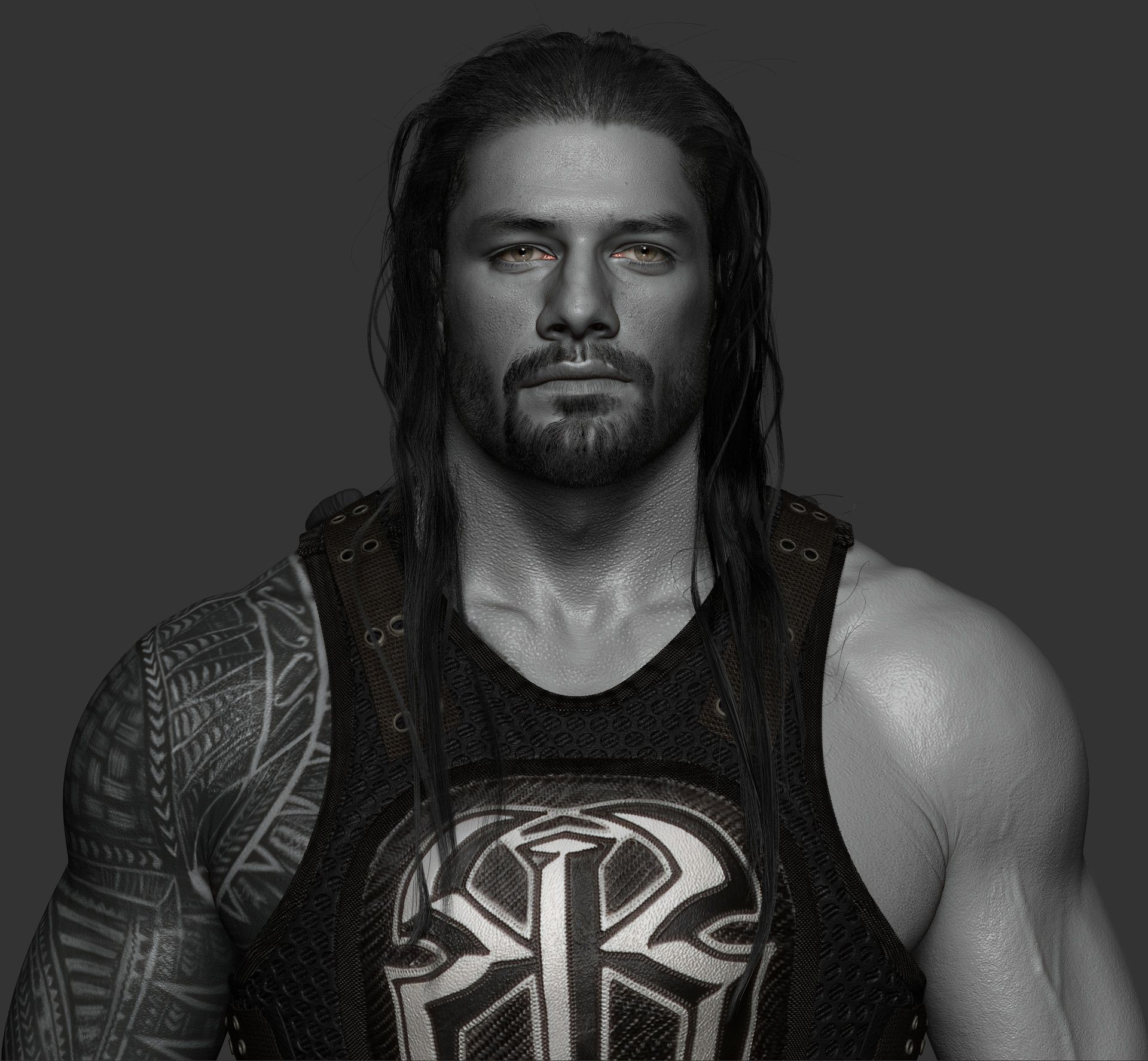 Here Is Another Sculpt I Did For Wwe, Roman Reigns Hope -2475