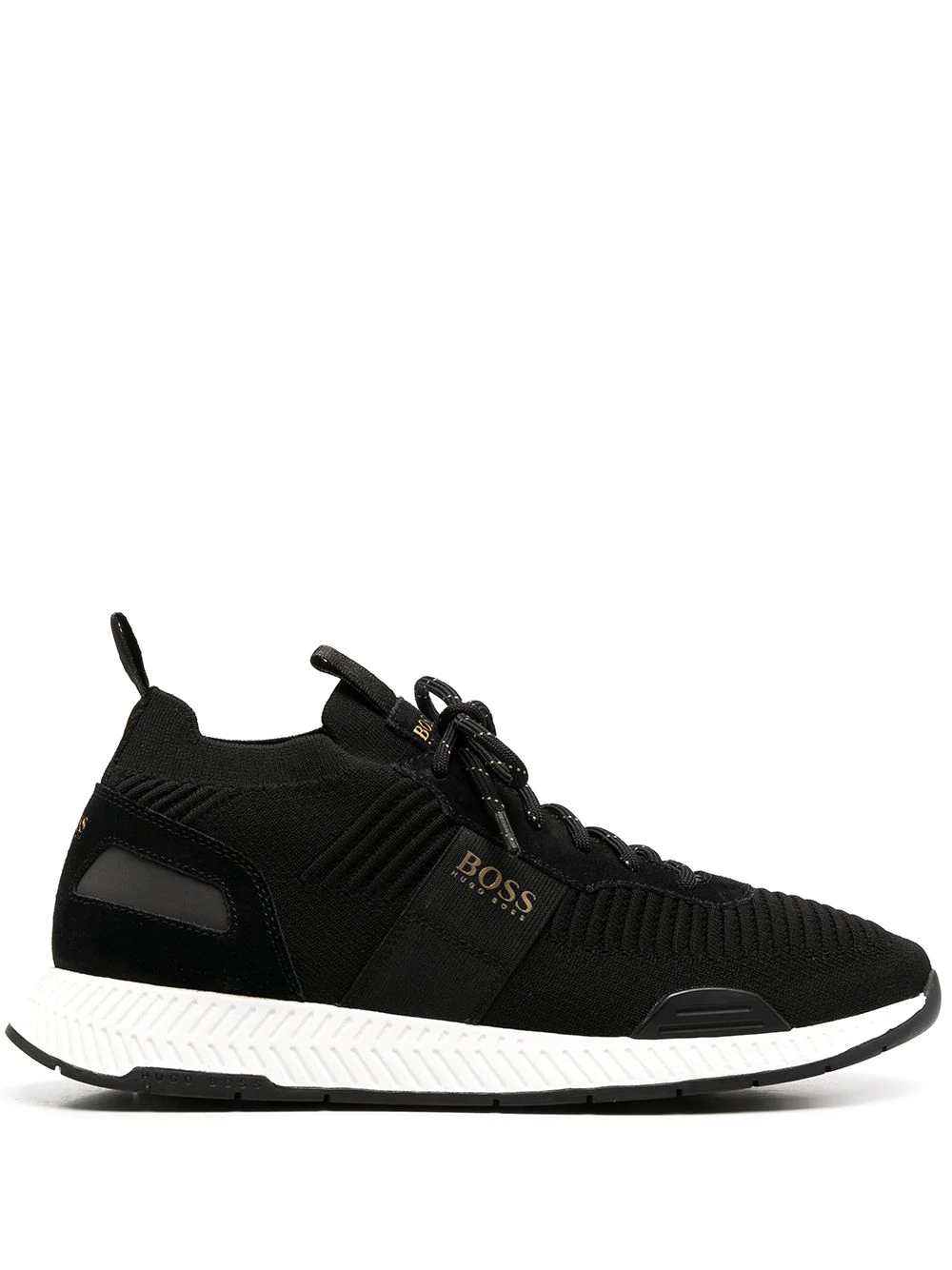 Boss Hugo Boss Knitted Low Top Trainers Farfetch Hugo Boss Hugo Trainers