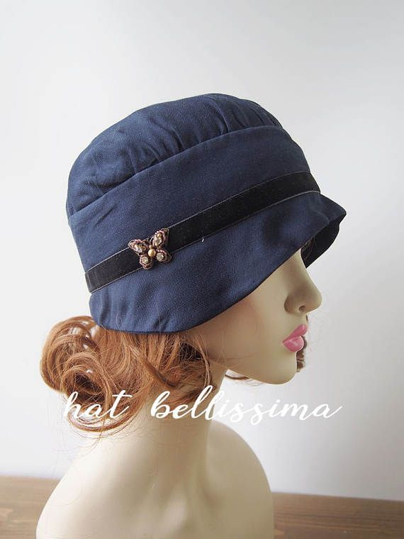 SALE Navy Blue 1920 s Style cloche hat Vintage Style hat hatbellissima  millinery 1920 s Style hat su a38fdbb8247