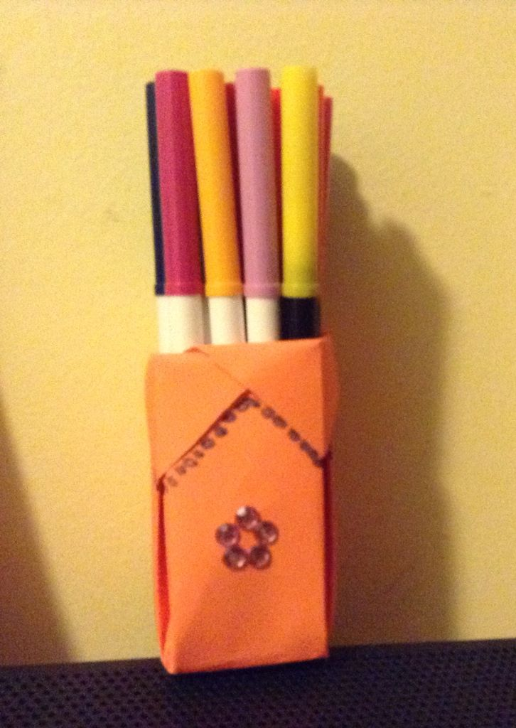 Origami Pencil Holder Origamis And Paper Creations Pinterest
