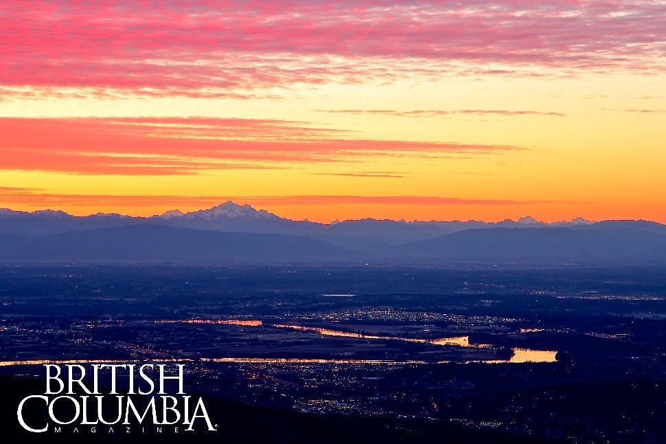 Sunrise from Mount Seymour