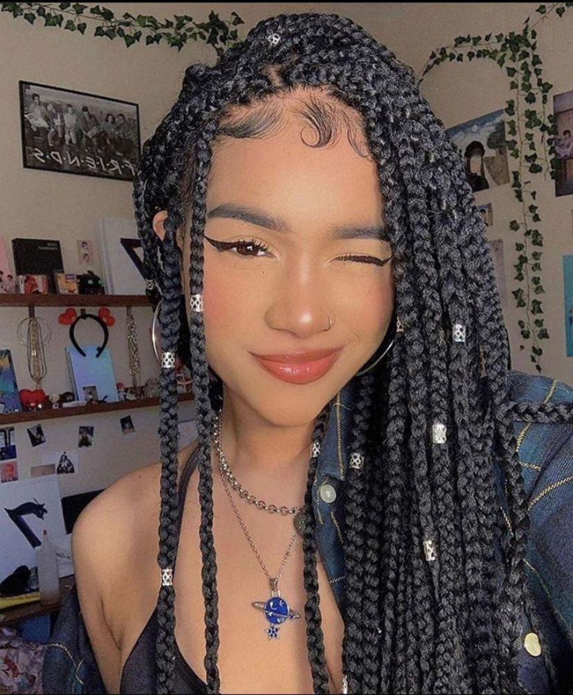 Huge 2020 Hairstyle List The 9 Hottest Trends To Be Obsessed With Ecemella In 2020 Hair Styles Box Braids Hairstyles Aesthetic Hair