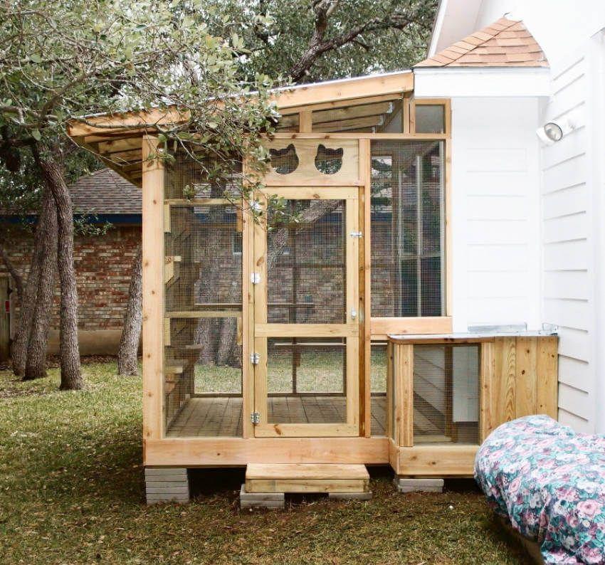 outdoor cat enclosure cat patio