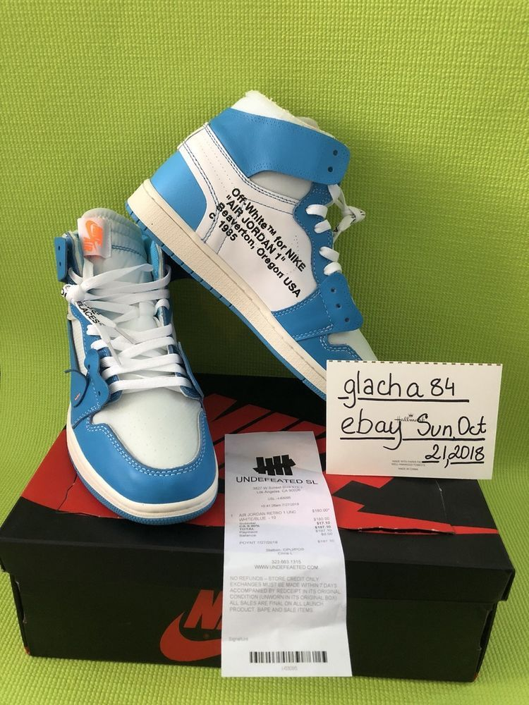 57b652e46db989 Air Jordan Retro 1 White Blue Off White New With Receipt  fashion  clothing   shoes  accessories  mensshoes  athleticshoes (ebay link)