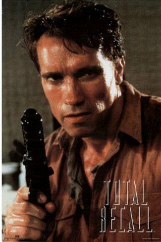 TOTAL RECALL Movie PHOTO Print POSTER Textless Film Art Arnold Schwarzenegger 01