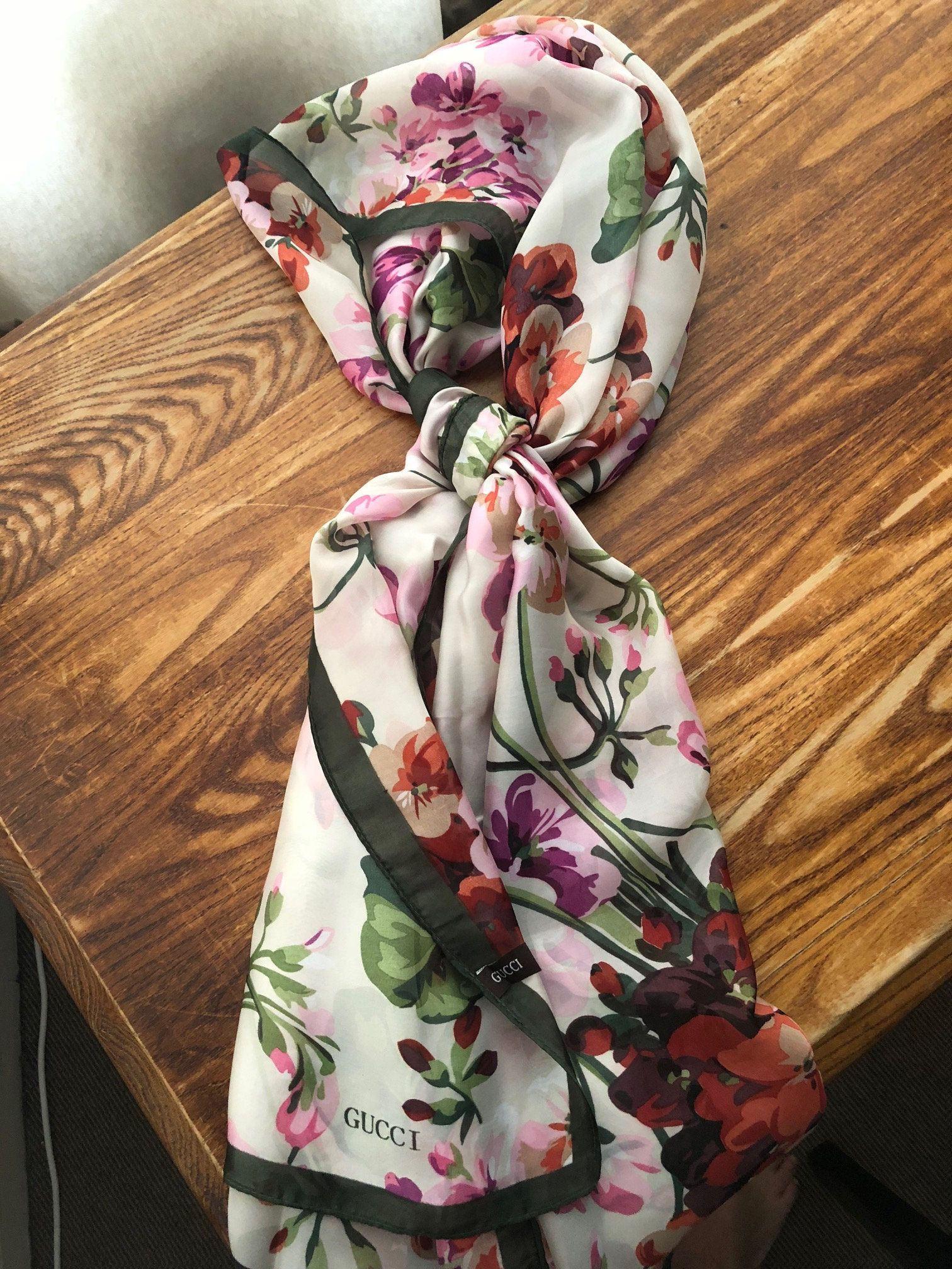 1042b3d06 Gucci 'Bloom' Silk scarf. -Brand new, never worn -100% Silk, very soft  -Made in Italy -Dry clean only Shipping via Royal Mail First Class Signed  For.
