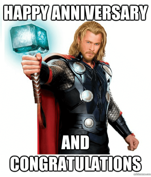 Happy Anniversary Memes For Friends Happy Anniversary Meme Anniversary Meme Thursday Humor