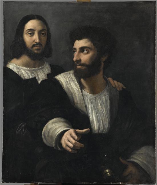 Raffaello Sanzio | Portrait de l'artiste avec un ami, 1518 | Musée du Louvre, Paris